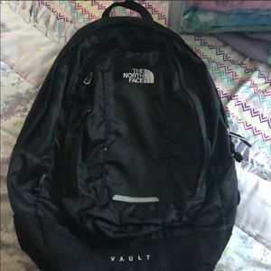The North Face Vault backpack in black (USED)